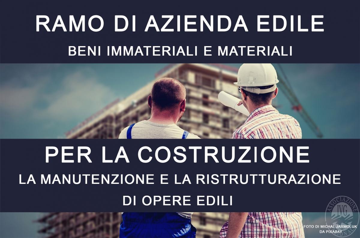 Ramo di azienda per la costruzione, la manutenzione e la ristrutturazione di opere edili