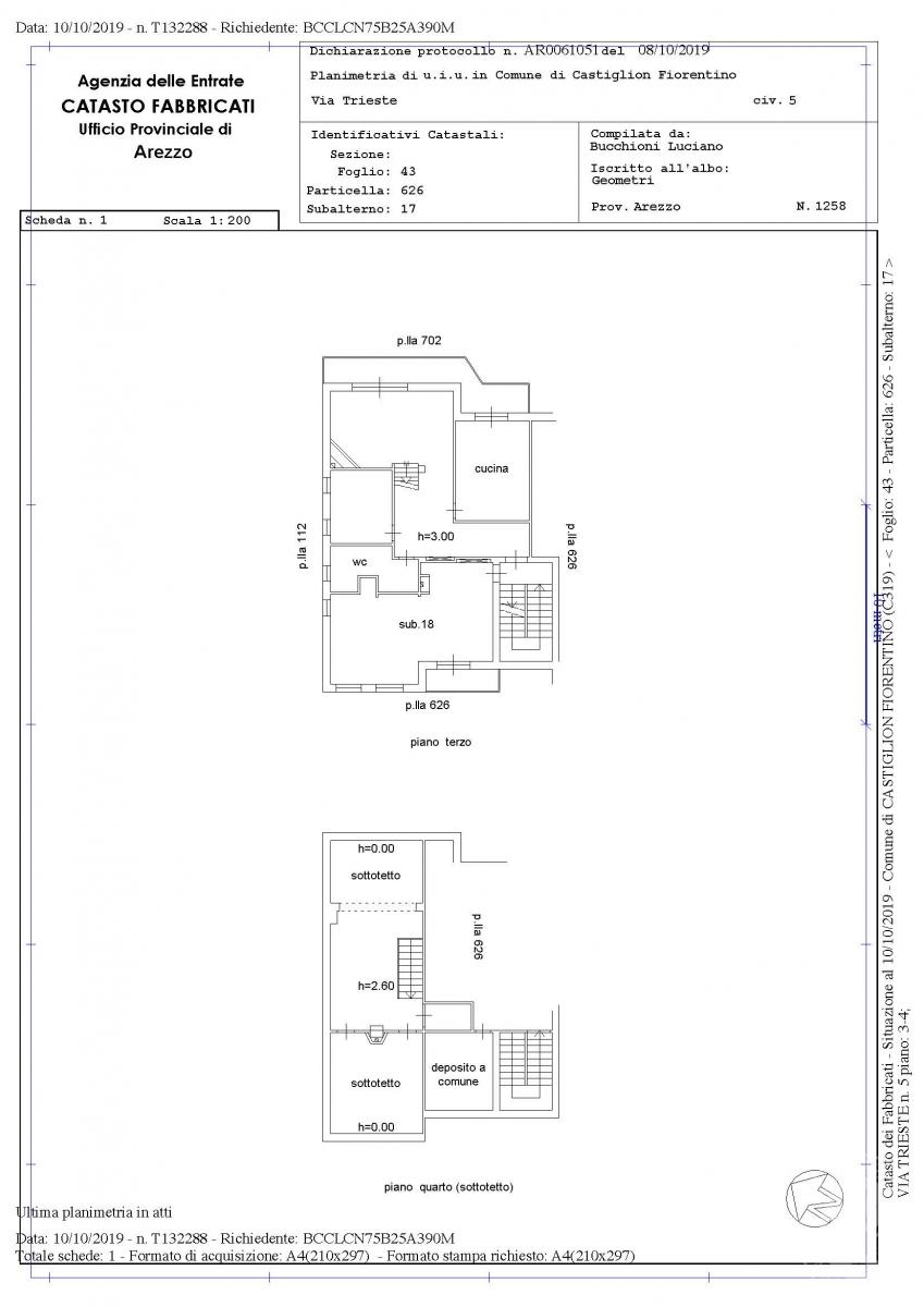 Due appartamenti a Castiglion Fiorentino in Via Trieste 7