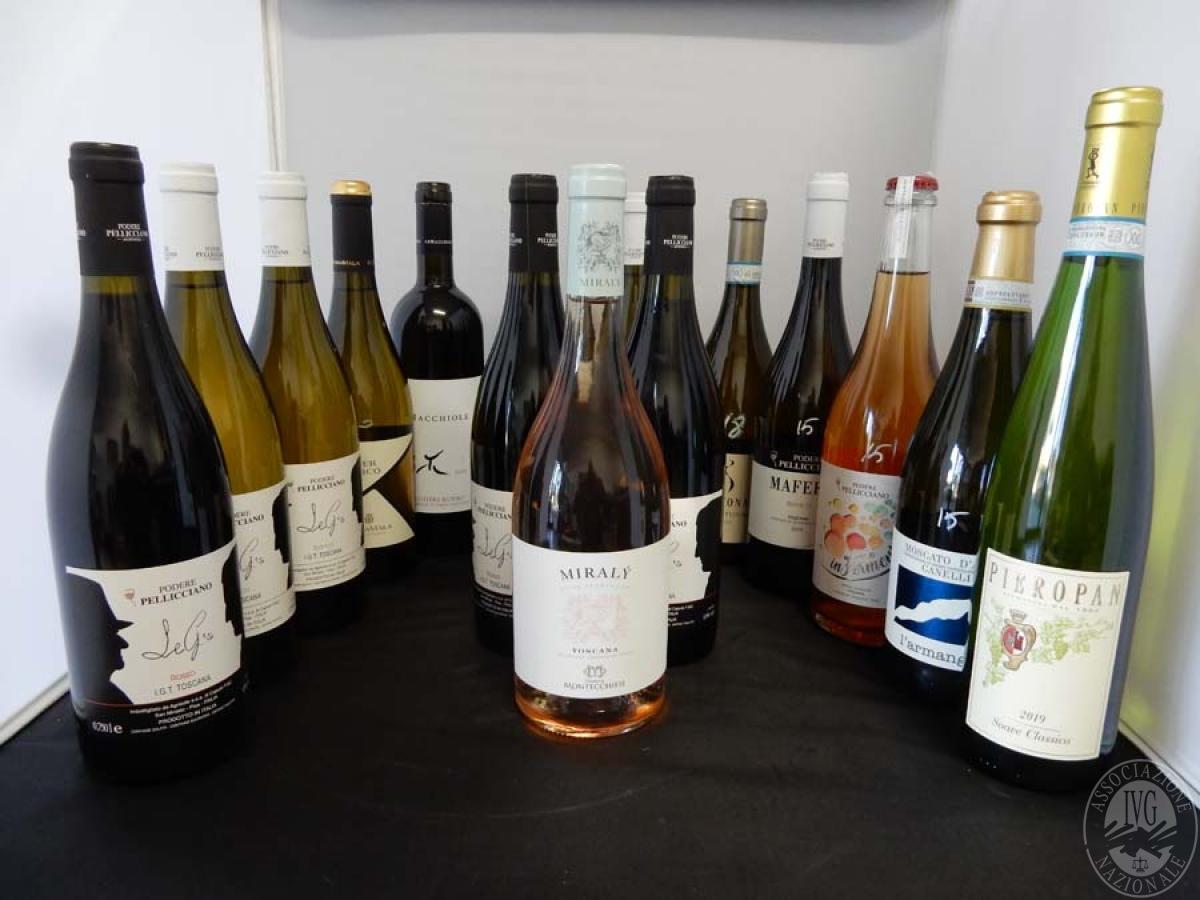 Lotto 11) N. 15 bordolesi assortite di vino     GARA ONLINE 13 DICEMBRE 2021