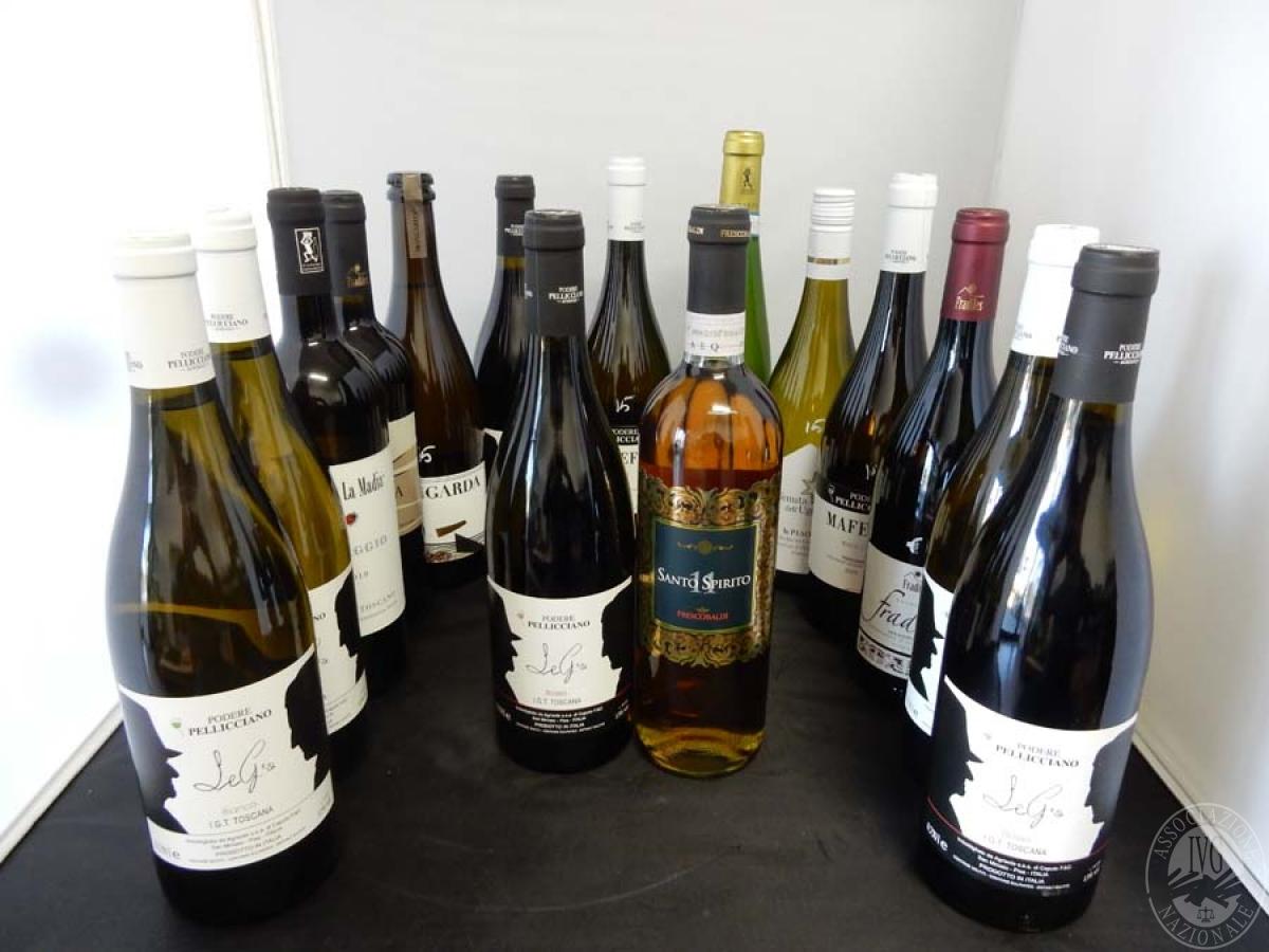 Lotto 12) N. 15 bordolesi assortite di vino     GARA ONLINE 13 DICEMBRE 2021