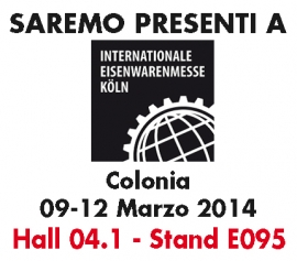 Cologne 09-12 March 2014-INTERNATIONALE EISENWARENMESSE KOLN - Hall 4.1 Stand E095