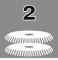 Number of disc brushes